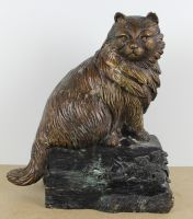sculpture Le chat Ronner Henriette animaux  bronze