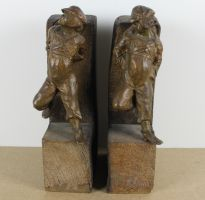 sculpture Gavroche   scène rurale  bronze