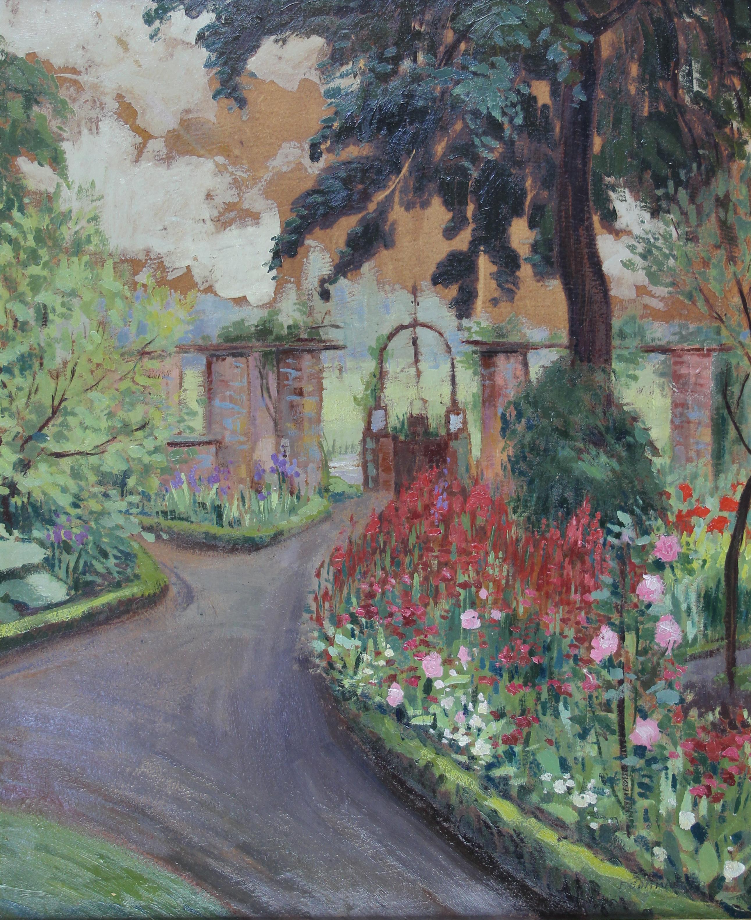 Tabgalerie tableau le jardin aux fleures fernand for Le jardin aux epilobes